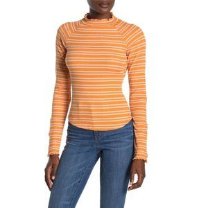 Free People Sunday Afternoon Striped Cutout Top